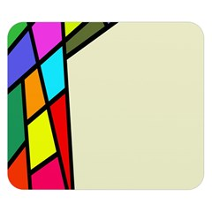 Digitally Created Abstract Page Border With Copyspace Double Sided Flano Blanket (small)  by Simbadda