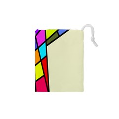 Digitally Created Abstract Page Border With Copyspace Drawstring Pouches (xs)