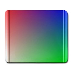 3d Rgb Glass Frame Large Mousepads by Simbadda