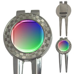3d Rgb Glass Frame 3 In 1 Golf Divots by Simbadda