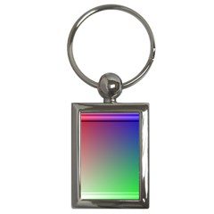 3d Rgb Glass Frame Key Chains (rectangle)  by Simbadda