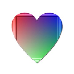 3d Rgb Glass Frame Heart Magnet by Simbadda