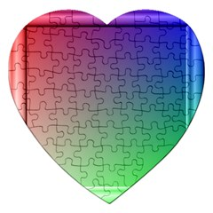 3d Rgb Glass Frame Jigsaw Puzzle (heart) by Simbadda