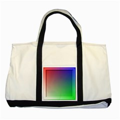 3d Rgb Glass Frame Two Tone Tote Bag by Simbadda