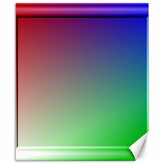 3d Rgb Glass Frame Canvas 8  X 10  by Simbadda