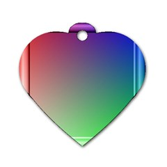 3d Rgb Glass Frame Dog Tag Heart (one Side) by Simbadda