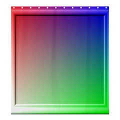 3d Rgb Glass Frame Shower Curtain 66  X 72  (large)  by Simbadda