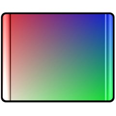 3d Rgb Glass Frame Fleece Blanket (medium)  by Simbadda