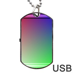 3d Rgb Glass Frame Dog Tag Usb Flash (two Sides) by Simbadda