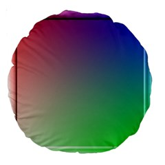 3d Rgb Glass Frame Large 18  Premium Round Cushions by Simbadda