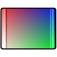 3d Rgb Glass Frame Double Sided Fleece Blanket (large)  by Simbadda