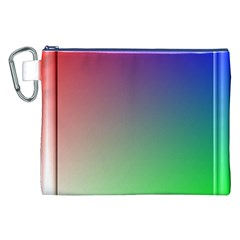 3d Rgb Glass Frame Canvas Cosmetic Bag (xxl) by Simbadda