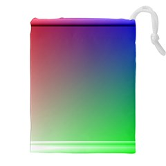 3d Rgb Glass Frame Drawstring Pouches (xxl) by Simbadda