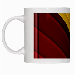 3d Glass Frame With Red Gold Fractal Background White Mugs by Simbadda