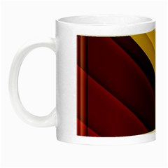 3d Glass Frame With Red Gold Fractal Background Night Luminous Mugs