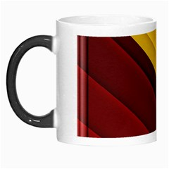 3d Glass Frame With Red Gold Fractal Background Morph Mugs by Simbadda