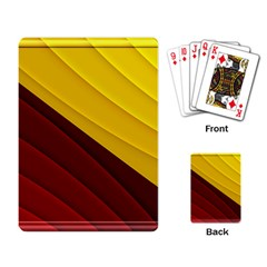 3d Glass Frame With Red Gold Fractal Background Playing Card by Simbadda