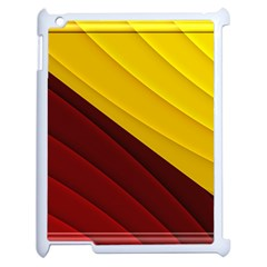 3d Glass Frame With Red Gold Fractal Background Apple Ipad 2 Case (white) by Simbadda