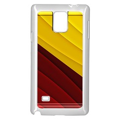 3d Glass Frame With Red Gold Fractal Background Samsung Galaxy Note 4 Case (white)