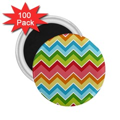 Colorful Background Of Chevrons Zigzag Pattern 2 25  Magnets (100 Pack)  by Simbadda