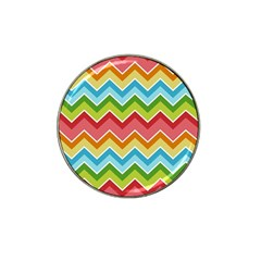 Colorful Background Of Chevrons Zigzag Pattern Hat Clip Ball Marker (10 Pack) by Simbadda