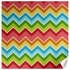 Colorful Background Of Chevrons Zigzag Pattern Canvas 16  X 16   by Simbadda