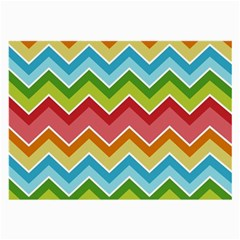Colorful Background Of Chevrons Zigzag Pattern Large Glasses Cloth by Simbadda