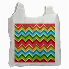 Colorful Background Of Chevrons Zigzag Pattern Recycle Bag (two Side)  by Simbadda