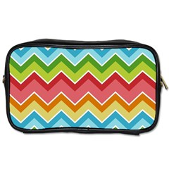 Colorful Background Of Chevrons Zigzag Pattern Toiletries Bags by Simbadda
