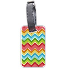 Colorful Background Of Chevrons Zigzag Pattern Luggage Tags (two Sides) by Simbadda