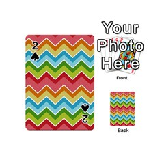 Colorful Background Of Chevrons Zigzag Pattern Playing Cards 54 (mini)  by Simbadda