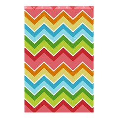 Colorful Background Of Chevrons Zigzag Pattern Shower Curtain 48  X 72  (small)  by Simbadda