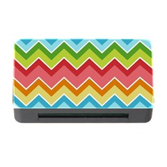 Colorful Background Of Chevrons Zigzag Pattern Memory Card Reader With Cf by Simbadda