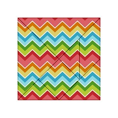 Colorful Background Of Chevrons Zigzag Pattern Acrylic Tangram Puzzle (4  X 4 ) by Simbadda