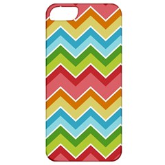 Colorful Background Of Chevrons Zigzag Pattern Apple Iphone 5 Classic Hardshell Case by Simbadda