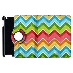 Colorful Background Of Chevrons Zigzag Pattern Apple Ipad 2 Flip 360 Case by Simbadda