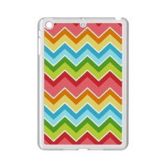Colorful Background Of Chevrons Zigzag Pattern Ipad Mini 2 Enamel Coated Cases by Simbadda