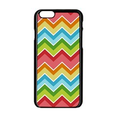 Colorful Background Of Chevrons Zigzag Pattern Apple Iphone 6/6s Black Enamel Case by Simbadda