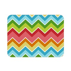 Colorful Background Of Chevrons Zigzag Pattern Double Sided Flano Blanket (mini)  by Simbadda