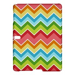 Colorful Background Of Chevrons Zigzag Pattern Samsung Galaxy Tab S (10 5 ) Hardshell Case  by Simbadda