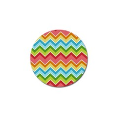 Colorful Background Of Chevrons Zigzag Pattern Golf Ball Marker
