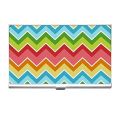 Colorful Background Of Chevrons Zigzag Pattern Business Card Holders by Simbadda