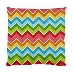 Colorful Background Of Chevrons Zigzag Pattern Standard Cushion Case (two Sides) by Simbadda