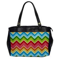 Colorful Background Of Chevrons Zigzag Pattern Office Handbags by Simbadda