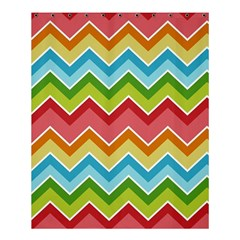 Colorful Background Of Chevrons Zigzag Pattern Shower Curtain 60  X 72  (medium)  by Simbadda