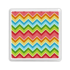 Colorful Background Of Chevrons Zigzag Pattern Memory Card Reader (square)  by Simbadda