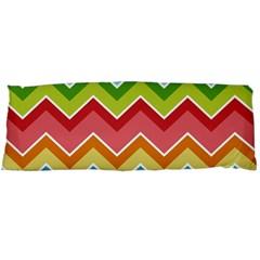 Colorful Background Of Chevrons Zigzag Pattern Body Pillow Case Dakimakura (two Sides) by Simbadda