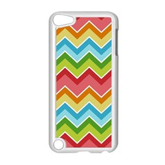 Colorful Background Of Chevrons Zigzag Pattern Apple Ipod Touch 5 Case (white) by Simbadda