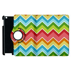 Colorful Background Of Chevrons Zigzag Pattern Apple Ipad 3/4 Flip 360 Case by Simbadda