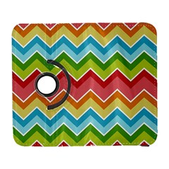 Colorful Background Of Chevrons Zigzag Pattern Galaxy S3 (flip/folio) by Simbadda